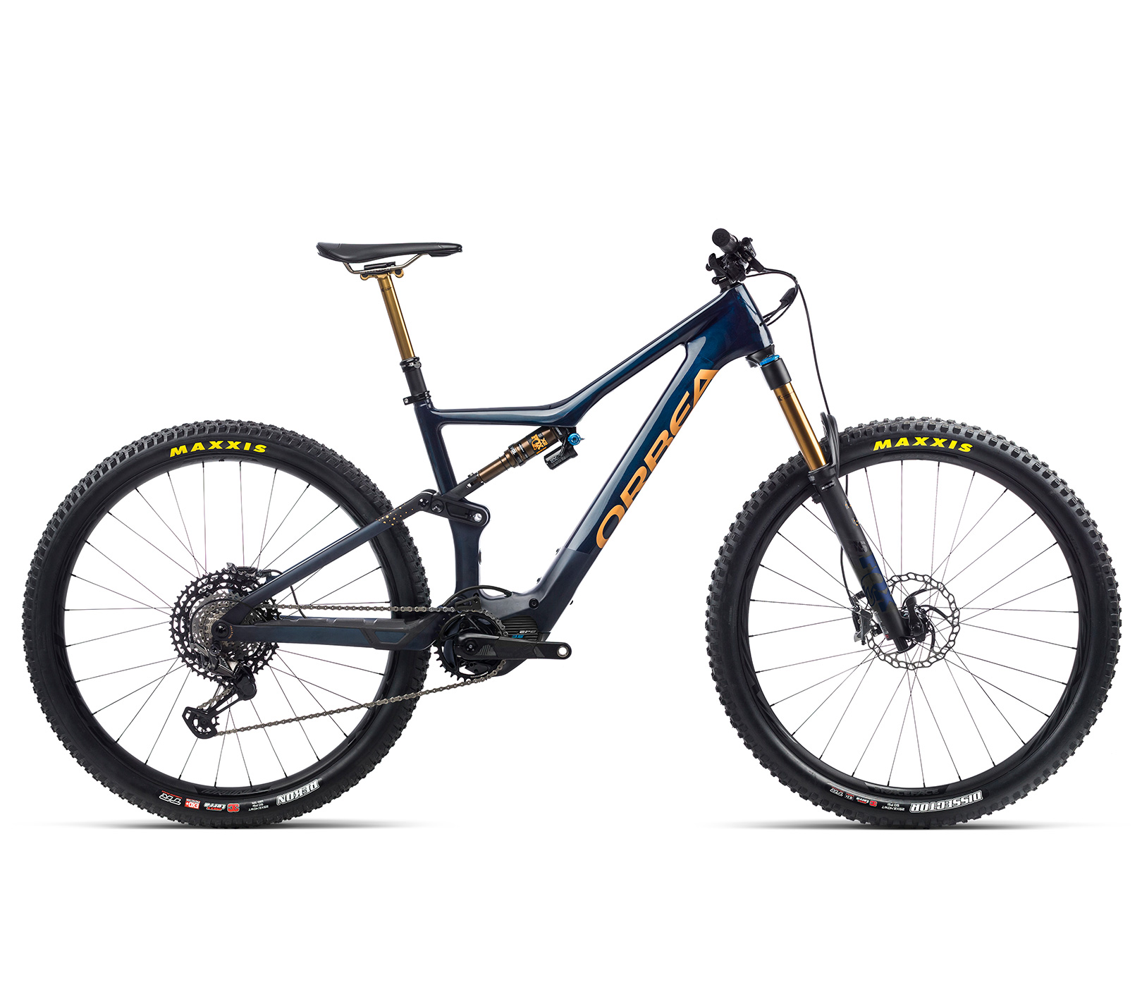 Orbea RISE M-TEAM Coal Blue - Red Gold - Bild 1